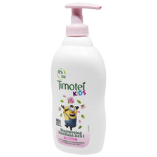 Shampooing kids démêlant 2en1 rose TIMOTEI, flacon 400ml