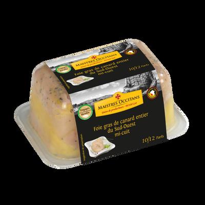 Foie gras de canard entier MAITRES OCCITANS, terrine de 500g