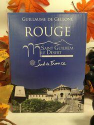 IGP St Guilhem le désert - Guillaume de Gellone Rouge 5L