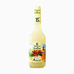 Sirop d'anis MOULIN DE VALDONNE, bouteille en verre de 70cl