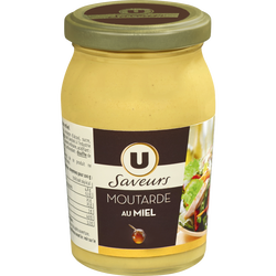 Moutarde au miel U SAVEUR, bocal de 235g