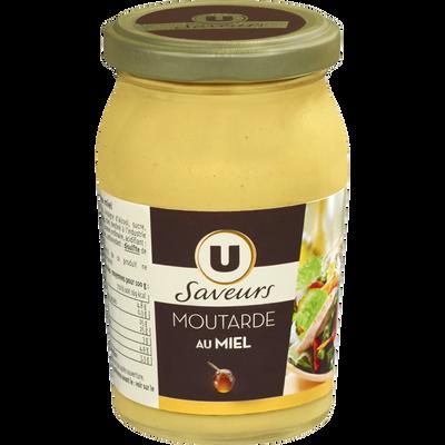 Moutarde au miel U SAVEUR, bocal de 235g