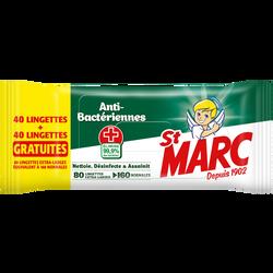Lingettes antibactériennes ST MARC x40 + 40 gratuites