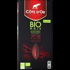 Tablette de chocolat noir Bio, COTE D'OR, 70%, soit 90g