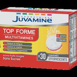JUVAMINE TOP FORME, 30 comprimés bi-couche effervescents