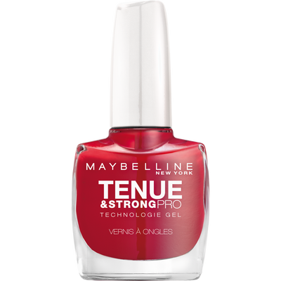 Vernis à ongles tenue & strong 501 rouge laque GEMEY MAYBELINE, nu