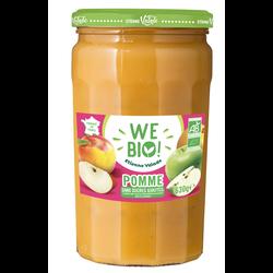 Purée de pommes sans sucre ajouté bio WE BIO, 630g