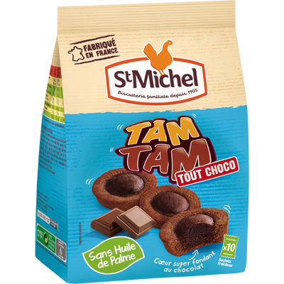 Tam tam tout chocolat ST MICHEL, paquet de 250g