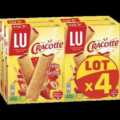 CRACOTTES fraise Lu paquets 4x200g