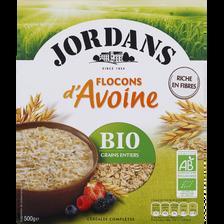 Flocons d'avoine bio JORDANS, paquet de 500g