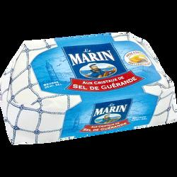 Beurre aux cristaux de sel de Guérande LE MARIN, 80% de MG, plaquettede 500g