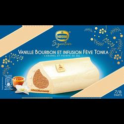 Bûche glacée vanille caramel fève tonka signature NESTLE , 491g