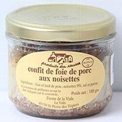 Confit de foie de porc aux noisettes, Produits du causse, 180g