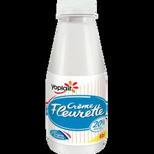 Crème légère fluide fleurette YOPLAIT, 20%MG, 40cl
