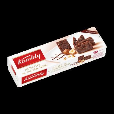 Noisettes au chocolat noir KAMBLY, 100g
