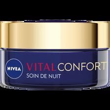 Nivea Soin De Nuit Confort+nutrition  Vital, Pot De 50ml