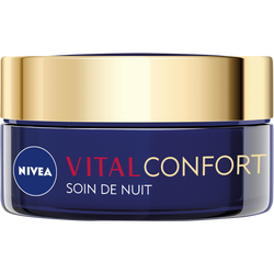 Soin de nuit confort+nutrition NIVEA vital, pot de 50ml