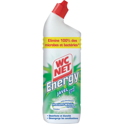 Gel javel Instant Action WC NET Energy, flacon de 750ml