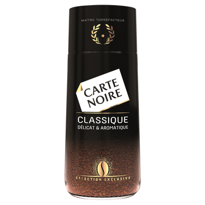 Café instantané classique CARTE NOIRE, 100g
