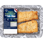 Cité Marine Filet De Cabillaud Façon Fish&chips, Transformé En France, Barquette 220g