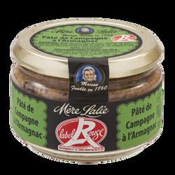 Pâté de campagne à l'armagnac label rouge MERE LALIE, 180g