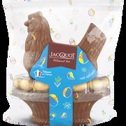 Jacquot Poule Couveuse Chocolat Au Lait Garnie Oeufs Praliné Jacquot Ppx, 400g