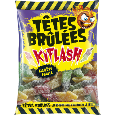 Bonbons TETES BRULEES kiflash, 180g
