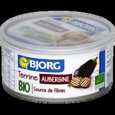 Terrine d'aubergine bio recette végétale BJORG, 125g