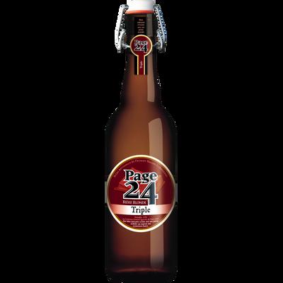 Bière triple 7.9° Page 24, bouteille de 75cl