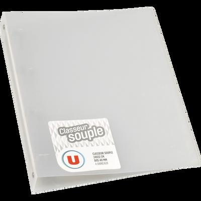 Classeur souple U, format A4, dos 40 mm, transparent