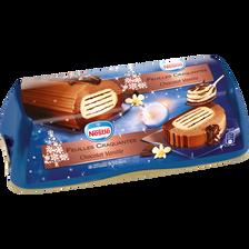 Nestlé Bûche Glacée Feuilles Craquantes Chocolat Vanille , 540g