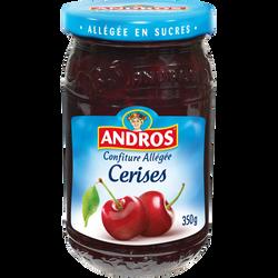 Confiture allégée de cerises ANDROS, 350g