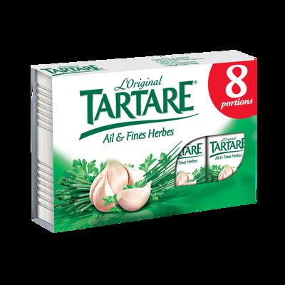 Fromage au lait pasteurisé TARTARE Ail et Fines Herbes, 32%mg 8 portions 128g Format Spécial