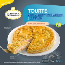 Tourte st jacque crevettes colin sauce homardine FRANÇAISE DE GASTRONOMIE, 450g