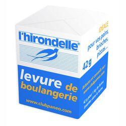 Levure boulanger fraîche en cube, L'HIRONDELLE, 42g