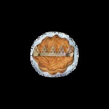 Galette des rois frangipane pépites chocolat noir avec santon MENOU, 500g