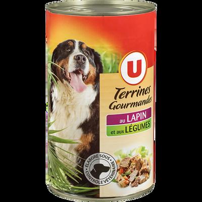 Terrines gourmandes p/chien lapin/légumes U 3/2 1,240kg