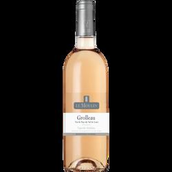 Vin rosé IGP Val de Loire Grolleau le moulin, bouteille de 75cl