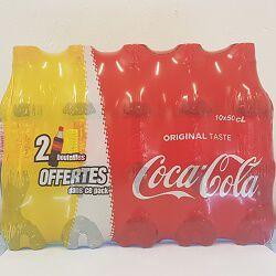 Soda COCA COLA, le pack de 10x50cl (2 bouteilles offertes)