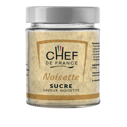 Sucre saveur noisette CHEF DE FRANCE, pot de 160g