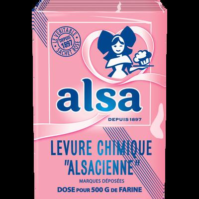 Levure chimique AlSA, 8 sachets de 88g