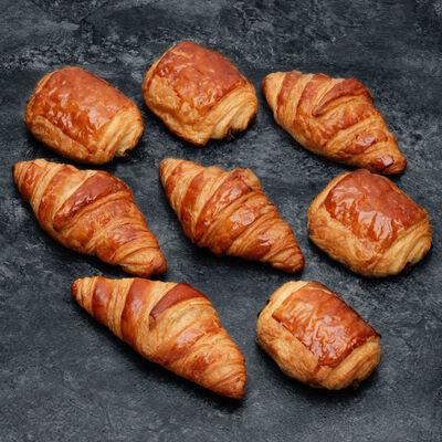 Croissant et pain chocolat, U, 8 pièces, 400g