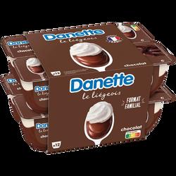 Dessert lacté saveur chocolat DANETTE, 12x100g