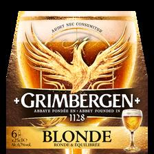 Bière blonde GRIMBERGEN 6,7° pack bouteilles 6x25cl