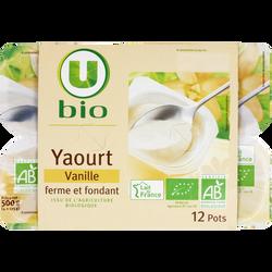 Yaourts fermes et fondants à la vanille U BIO, 12x125g
