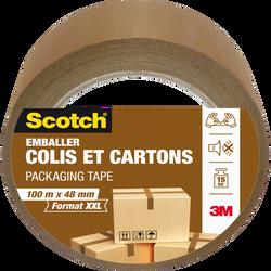 Emballage SCOTCH, colis et carton, 100mx48mm, havane