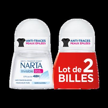 Narta Déodorant Femme Peaux Épilées 48h Narta, 2x50ml
