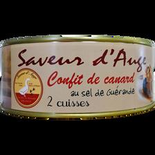 Confit de canard 2 cuisses SAVEUR D'AUGE, boîte basse de 750g