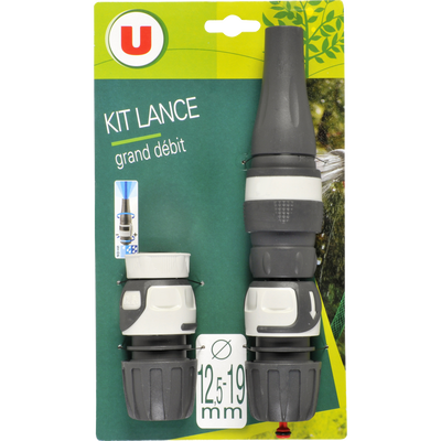 Kit lance grand débit U soft touch
