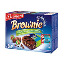 Mini brownie noisette BROSSARD X8 285G